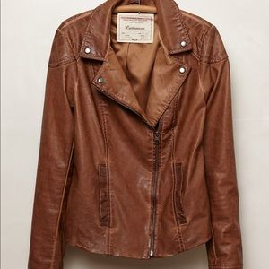 Cartonnier brown leather jacket Anthropologie 4